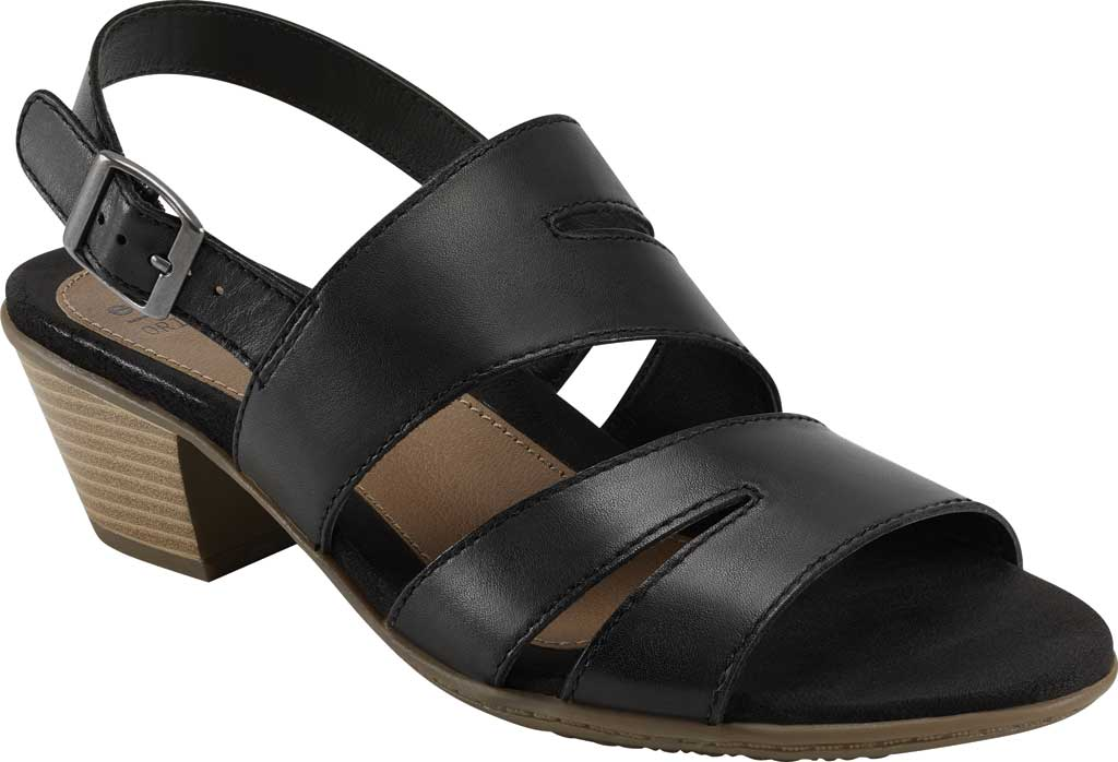 Women's Earth Origins Cathryn Strappy Sandal, Black Eco Calf Leather, large, image 1