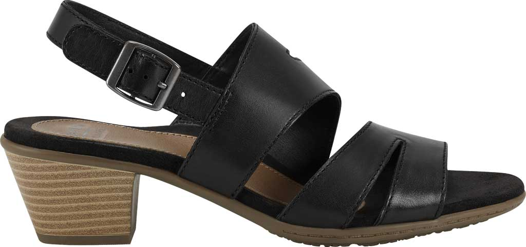 Women's Earth Origins Cathryn Strappy Sandal, Black Eco Calf Leather, large, image 2