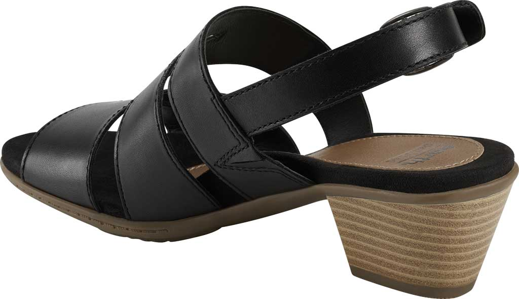 Women's Earth Origins Cathryn Strappy Sandal, Black Eco Calf Leather, large, image 3