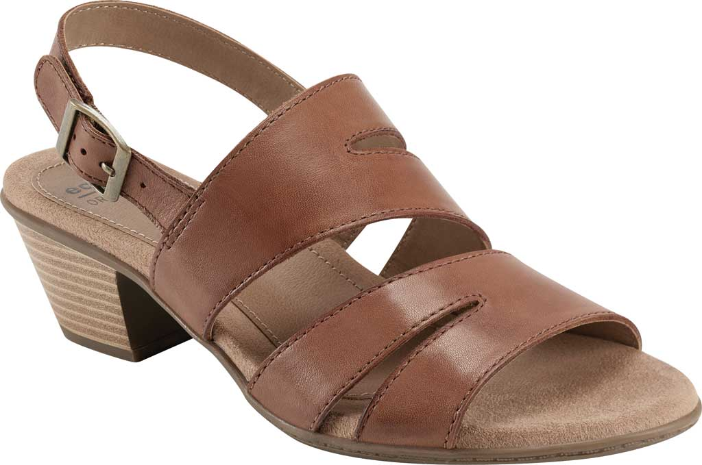 Women's Earth Origins Cathryn Strappy Sandal, Saddle Eco Calf Leather, large, image 1