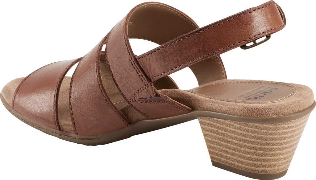 Women's Earth Origins Cathryn Strappy Sandal, Saddle Eco Calf Leather, large, image 3