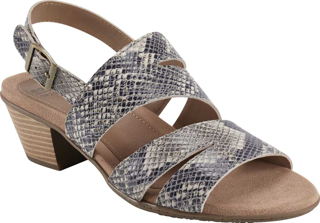 Women's Earth Origins Cathryn Strappy Sandal, Taupe Multi Shiny Python, large, image 1