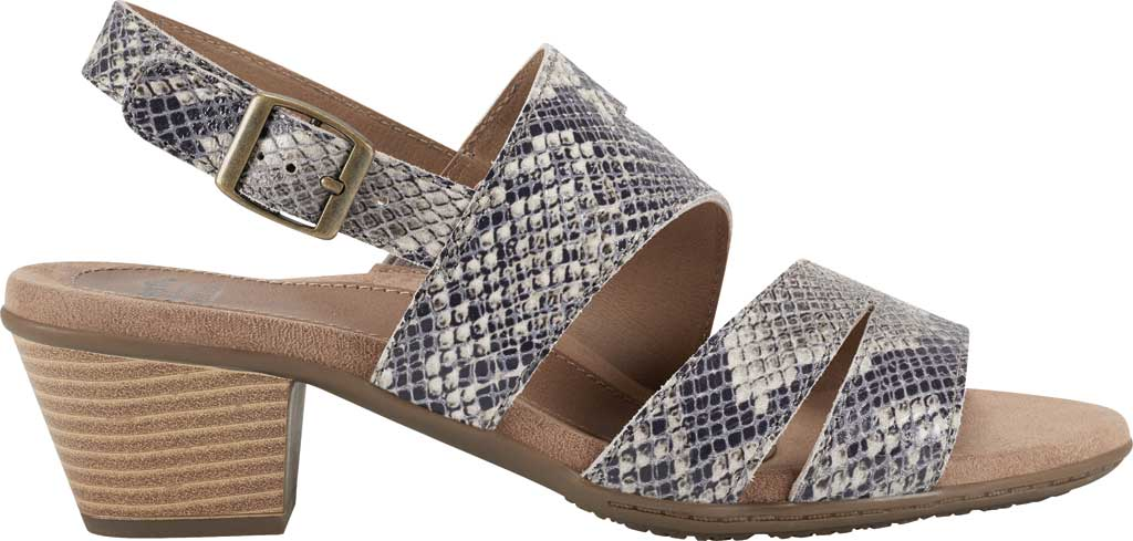 Women's Earth Origins Cathryn Strappy Sandal, Taupe Multi Shiny Python, large, image 2