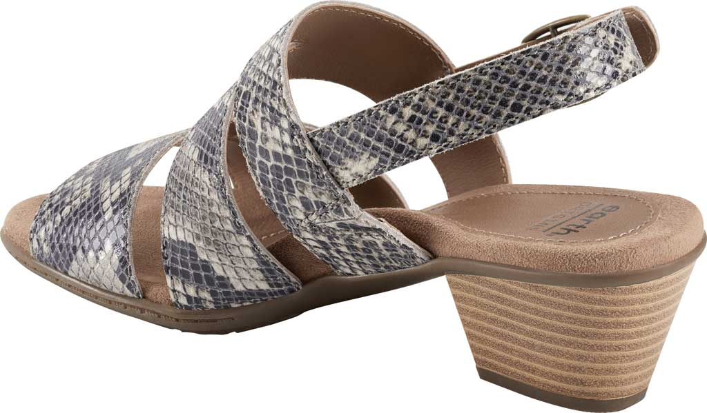 Women's Earth Origins Cathryn Strappy Sandal, Taupe Multi Shiny Python, large, image 3