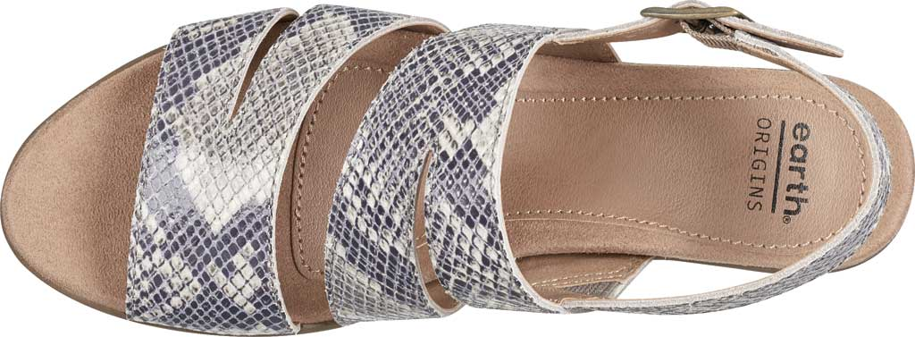 Women's Earth Origins Cathryn Strappy Sandal, Taupe Multi Shiny Python, large, image 4