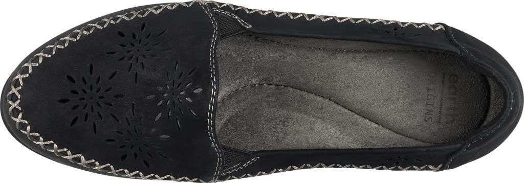 Women's Earth Origins Loralei Perforated Loafer, Black Vintage Cookie II Nubuck, large, image 4