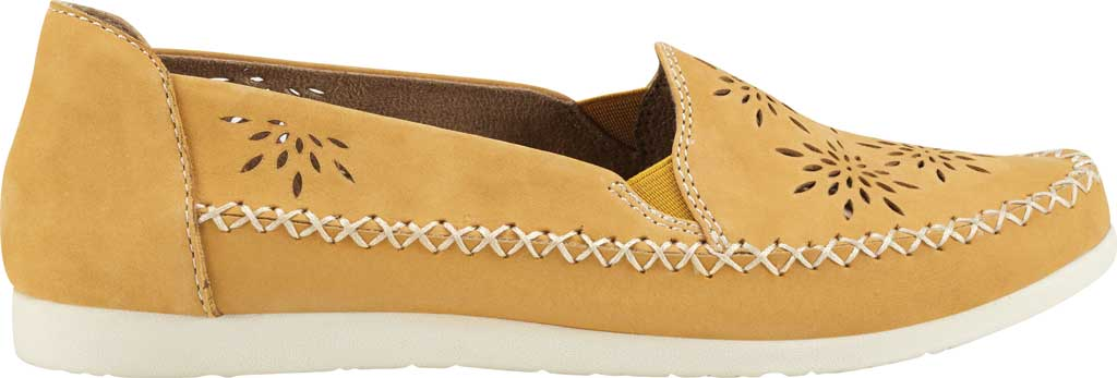 Women's Earth Origins Loralei Perforated Loafer, Amber Yellow Vintage Cookie II Nubuck, large, image 2