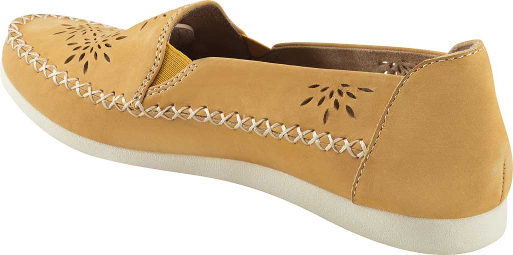Women's Earth Origins Loralei Perforated Loafer, Amber Yellow Vintage Cookie II Nubuck, large, image 3