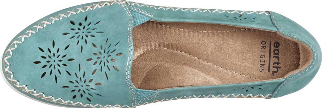Women's Earth Origins Loralei Perforated Loafer, Agate Green Vintage Cookie II Nubuck, large, image 4