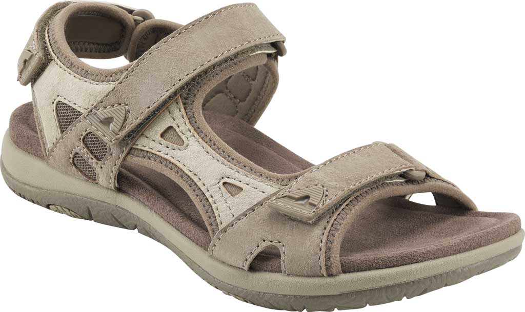 Women's Earth Origins Skylar Active Sandal, Taupe Multi Pig Suede, large, image 1