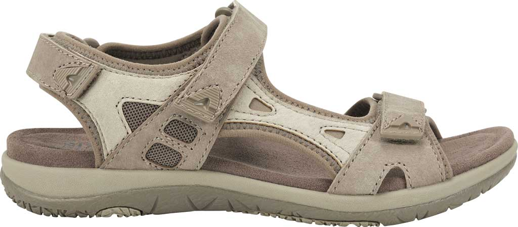 Women's Earth Origins Skylar Active Sandal, Taupe Multi Pig Suede, large, image 2