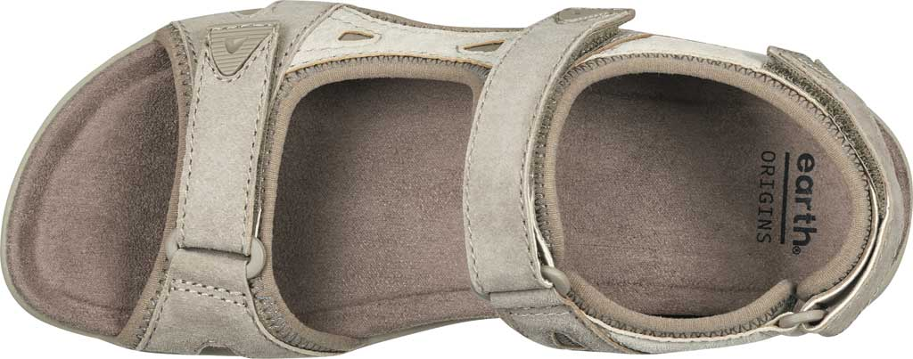 Women's Earth Origins Skylar Active Sandal, Taupe Multi Pig Suede, large, image 4