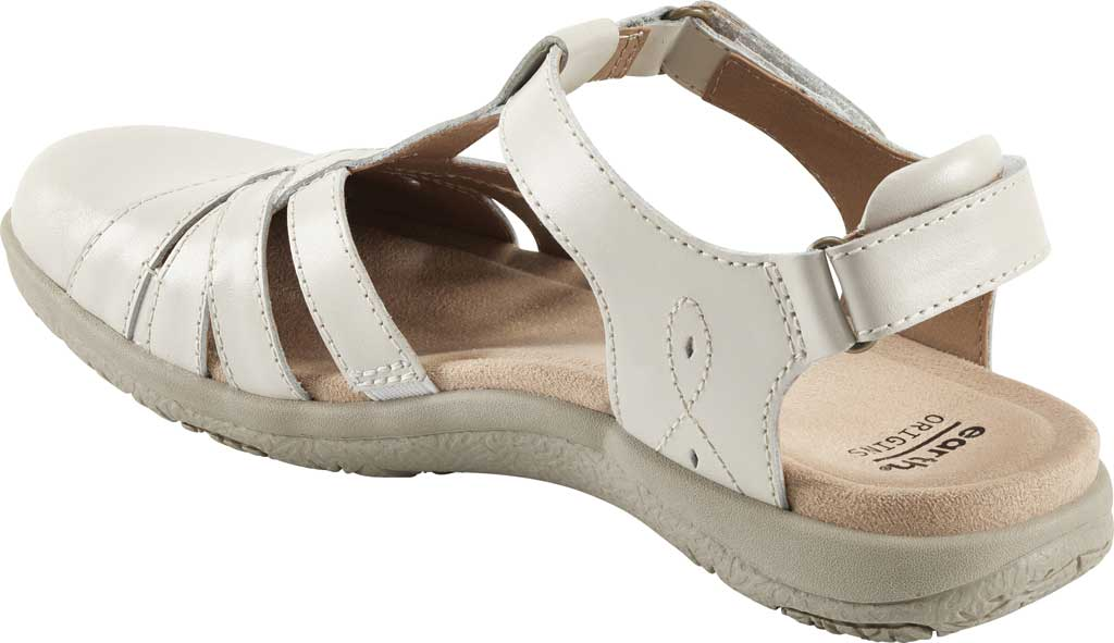 Women's Earth Origins Sierra Slingback Closed Toe Sandal, Sand White Eco Calf Leather, large, image 3