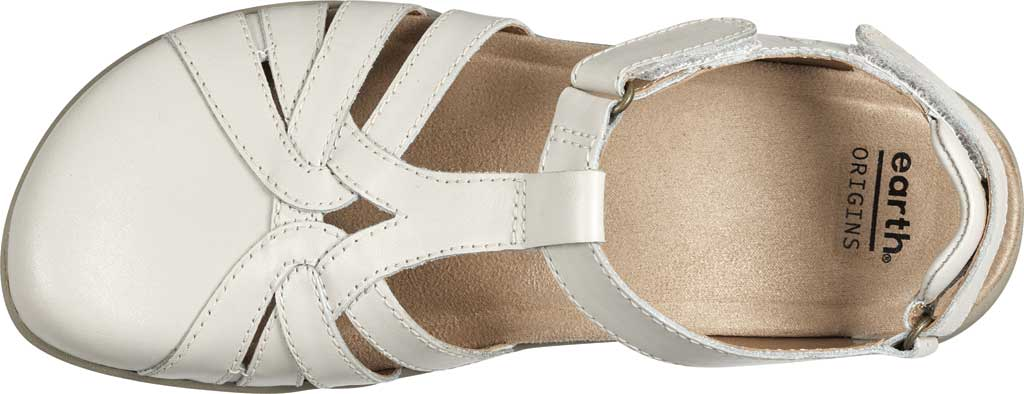 Women's Earth Origins Sierra Slingback Closed Toe Sandal, Sand White Eco Calf Leather, large, image 4