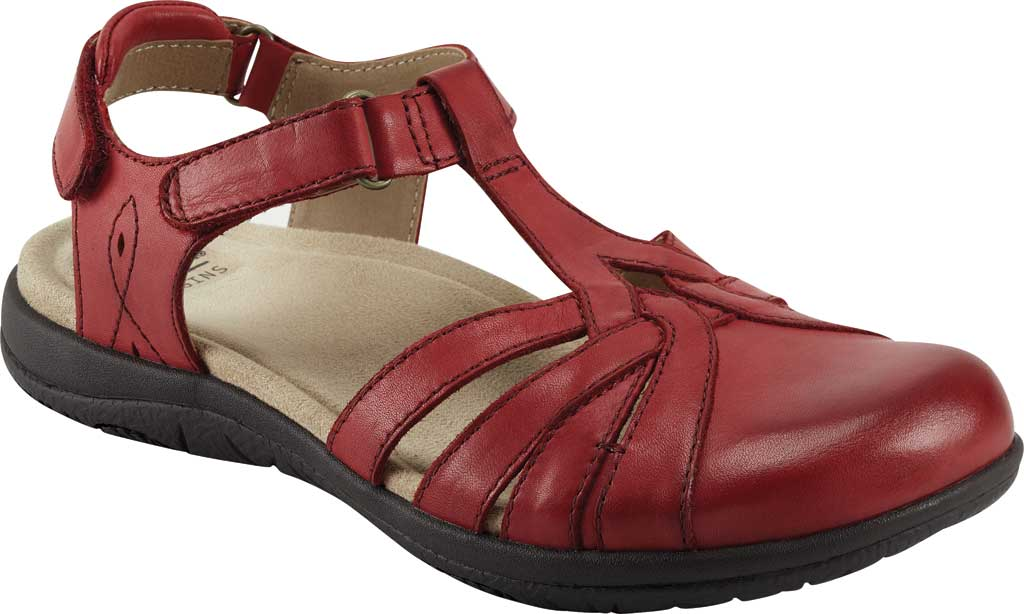 Women's Earth Origins Sierra Slingback Closed Toe Sandal, Bright Red Eco Calf Leather, large, image 1