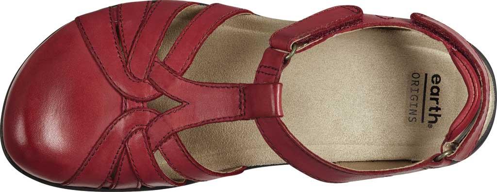 Women's Earth Origins Sierra Slingback Closed Toe Sandal, Bright Red Eco Calf Leather, large, image 4