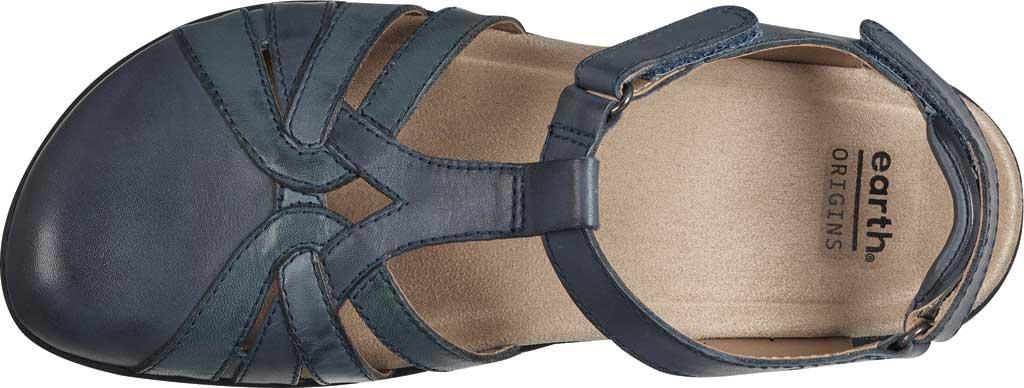 Women's Earth Origins Sierra Slingback Closed Toe Sandal, Admiral Blue Multi Eco Calf Leather, large, image 4