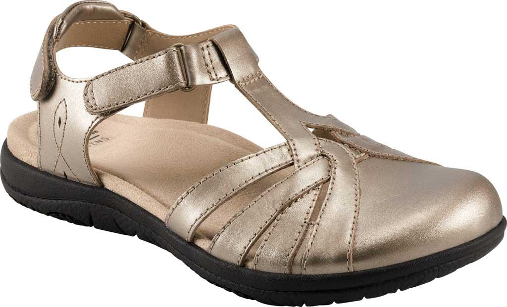 Women's Earth Origins Sierra Slingback Closed Toe Sandal, Platinum Pearlized Eco Leather, large, image 1