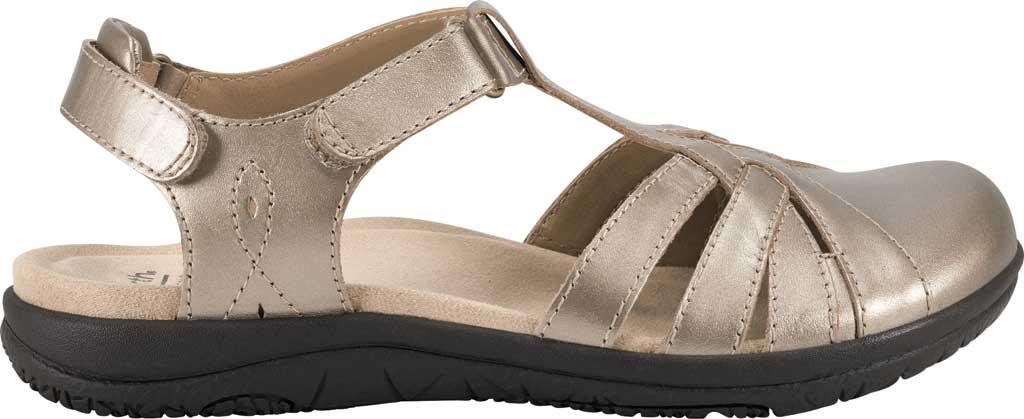 Women's Earth Origins Sierra Slingback Closed Toe Sandal, Platinum Pearlized Eco Leather, large, image 2