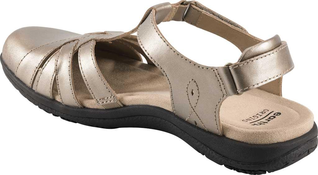 Women's Earth Origins Sierra Slingback Closed Toe Sandal, Platinum Pearlized Eco Leather, large, image 3