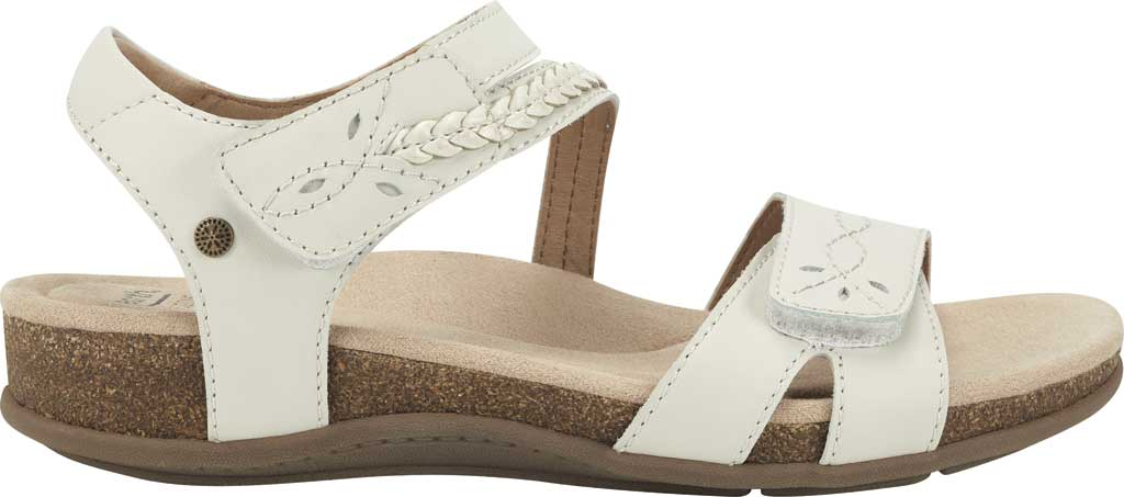 Women's Earth Origins Bria Wedge Strappy Sandal, Sand White Eco Calf Leather, large, image 2