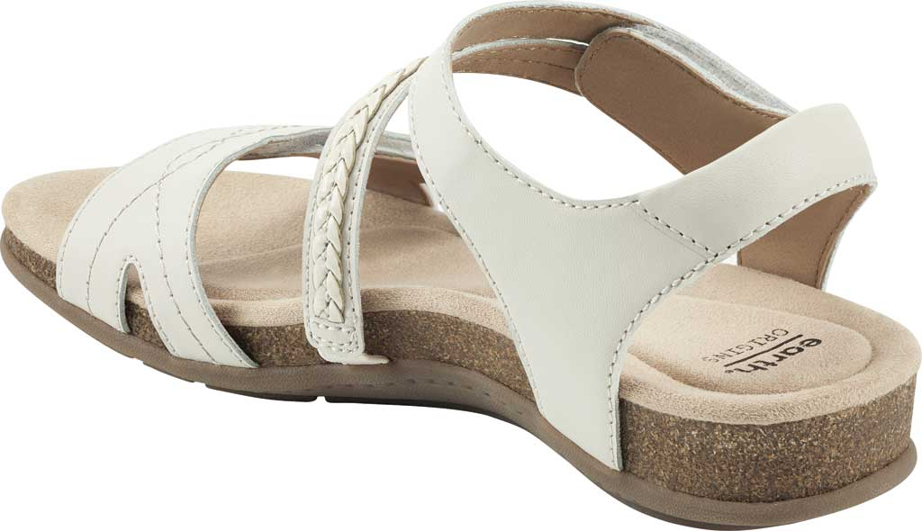 Women's Earth Origins Bria Wedge Strappy Sandal, Sand White Eco Calf Leather, large, image 3