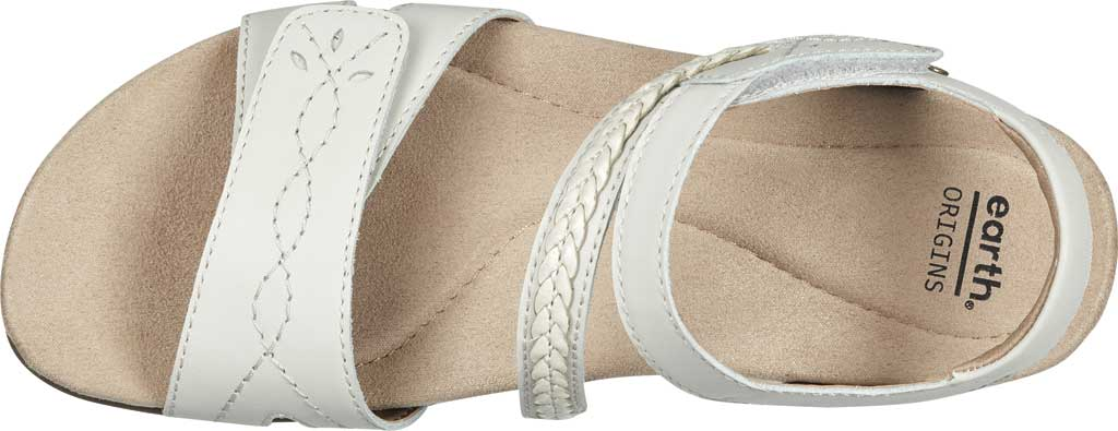 Women's Earth Origins Bria Wedge Strappy Sandal, Sand White Eco Calf Leather, large, image 4