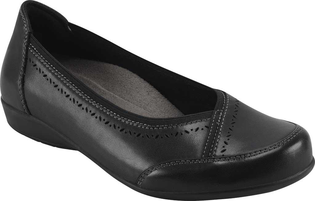 Women's Earth Origins Betz Ballet Flat, Black Eco Calf Leather, large, image 1