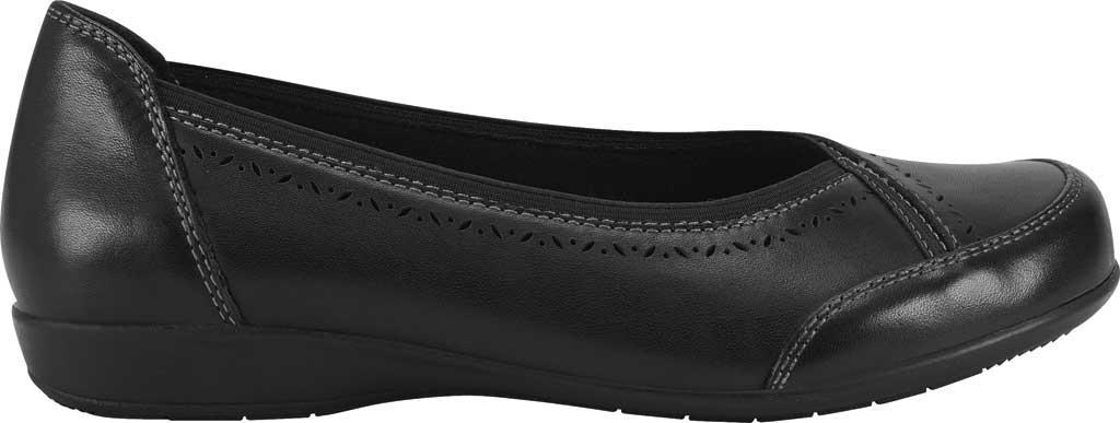 Women's Earth Origins Betz Ballet Flat, Black Eco Calf Leather, large, image 2
