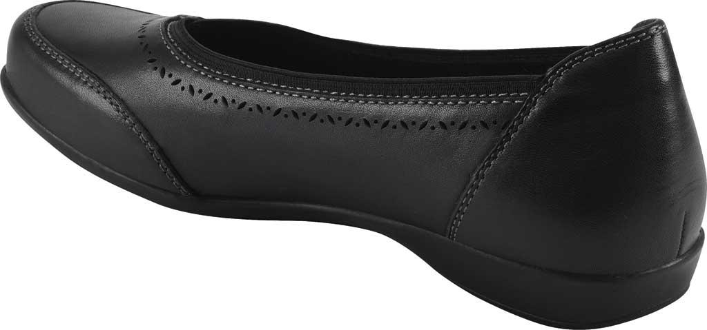 Women's Earth Origins Betz Ballet Flat, Black Eco Calf Leather, large, image 3