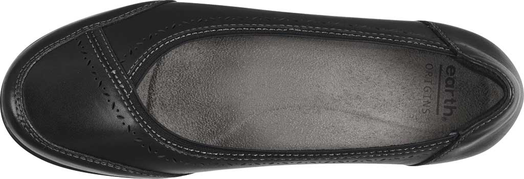 Women's Earth Origins Betz Ballet Flat, Black Eco Calf Leather, large, image 4