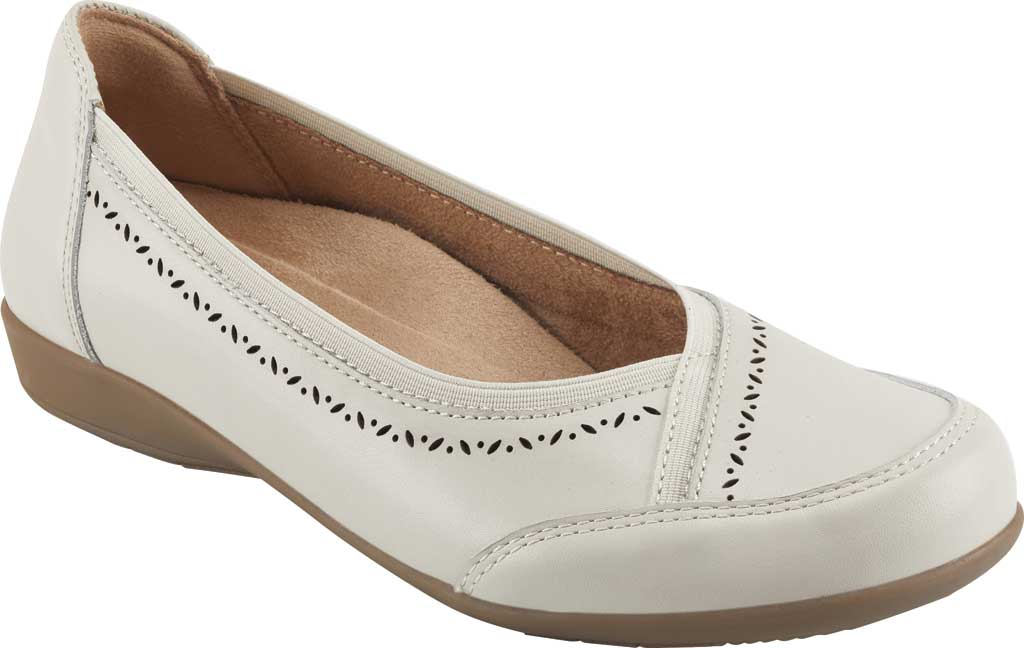 Women's Earth Origins Betz Ballet Flat, Sand White Eco Calf Leather, large, image 1