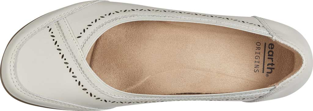 Women's Earth Origins Betz Ballet Flat, Sand White Eco Calf Leather, large, image 4