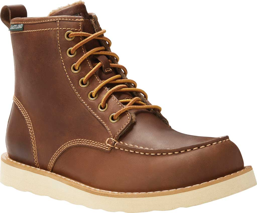 Men's Eastland Lumber Up Boot, Dark Tan Smooth Leather, large, image 1