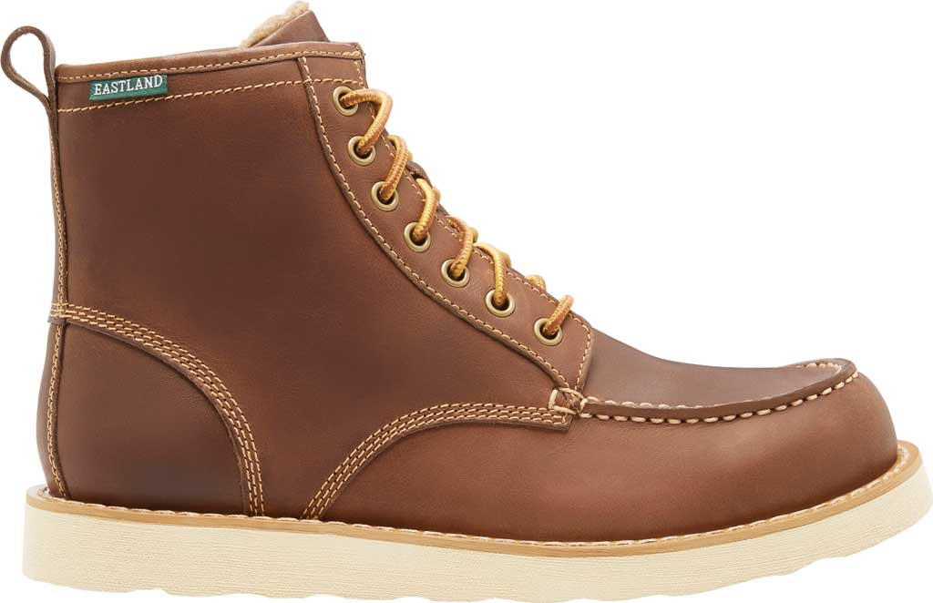 Men's Eastland Lumber Up Boot, Dark Tan Smooth Leather, large, image 2