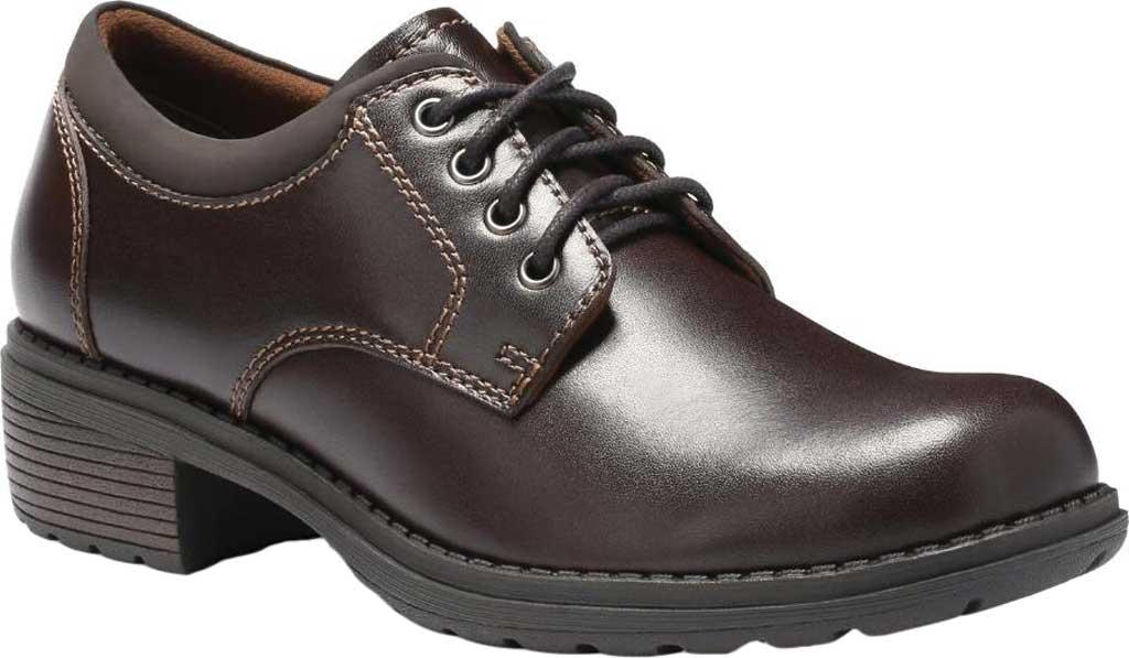 Women's Eastland Stride Plain Toe Oxford, Brown Full Grain Leather, large, image 1