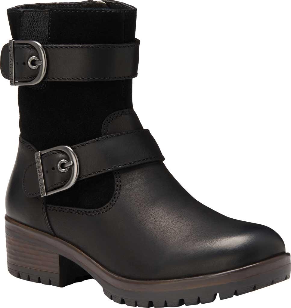 Women's Eastland Gracie Ankle Bootie, Black Full Grain Leather/Nubuck, large, image 1