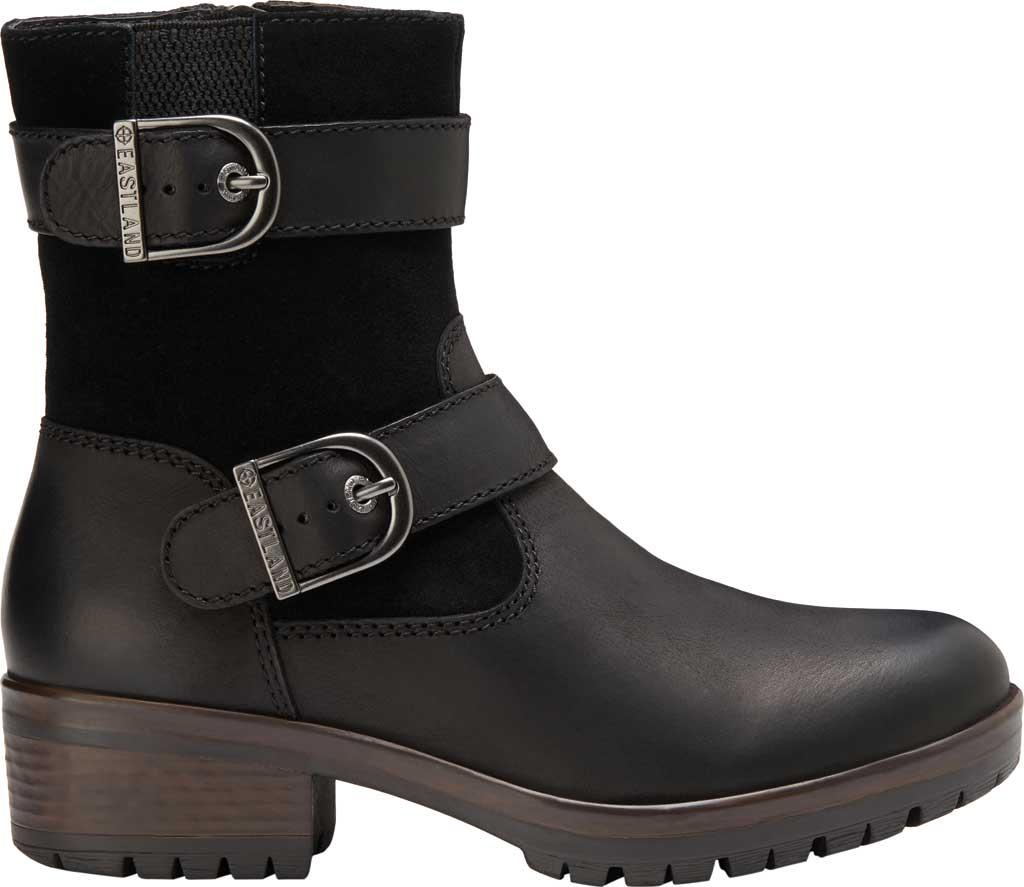 Women's Eastland Gracie Ankle Bootie, Black Full Grain Leather/Nubuck, large, image 2