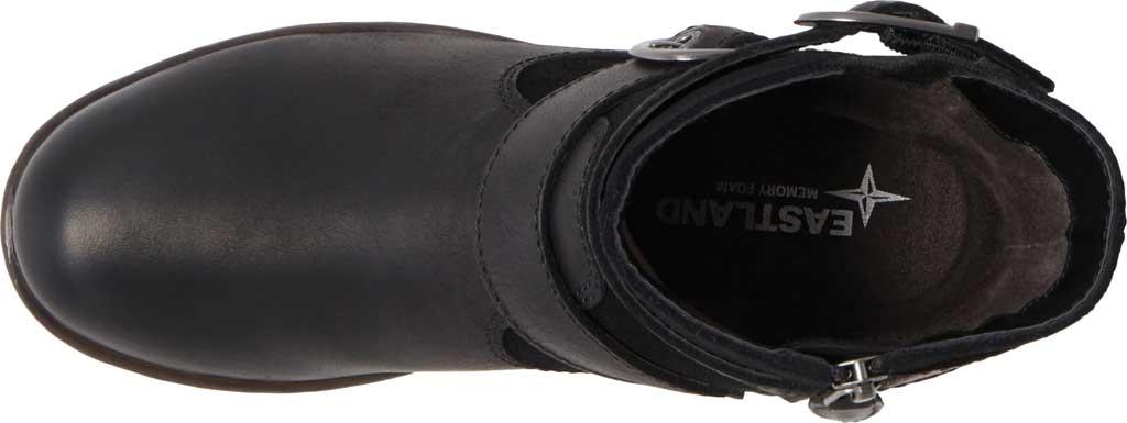 Women's Eastland Gracie Ankle Bootie, Black Full Grain Leather/Nubuck, large, image 5