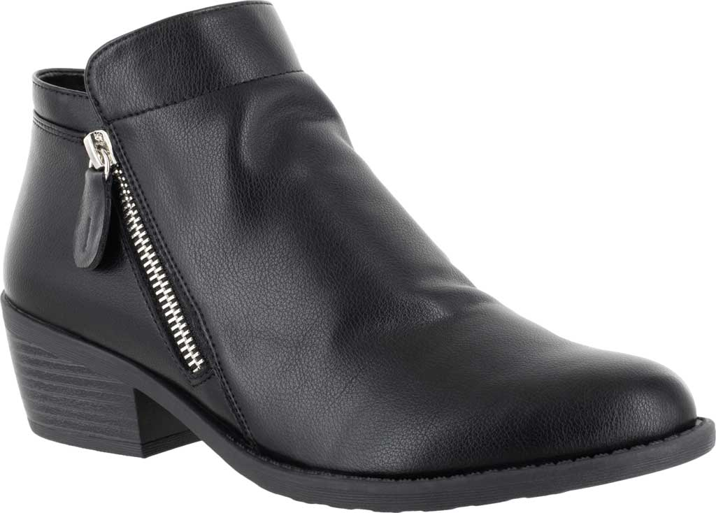 Women's Easy Street Gusto Bootie, Black Synthetic, large, image 1