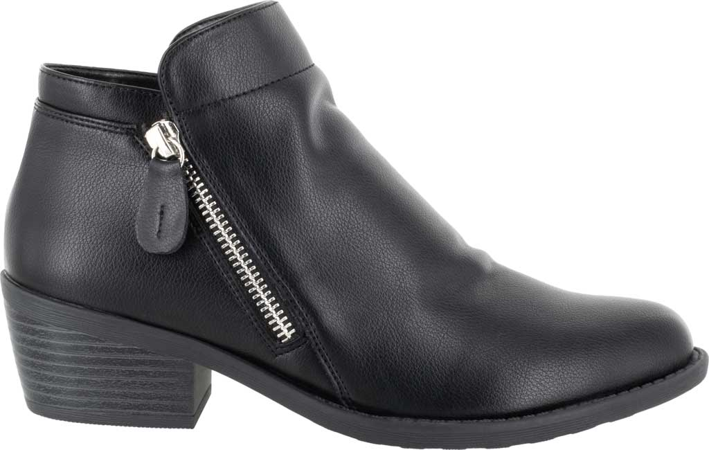 Women's Easy Street Gusto Bootie, Black Synthetic, large, image 2