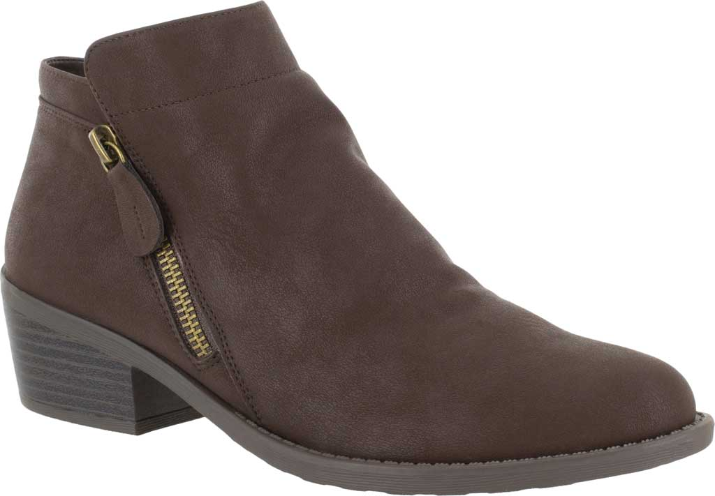 Women's Easy Street Gusto Bootie, Brown Matte Synthetic, large, image 1