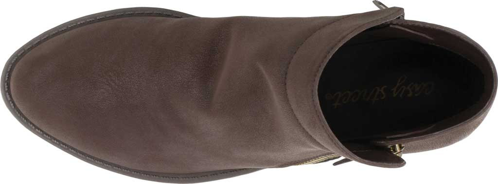 Women's Easy Street Gusto Bootie, Brown Matte Synthetic, large, image 5