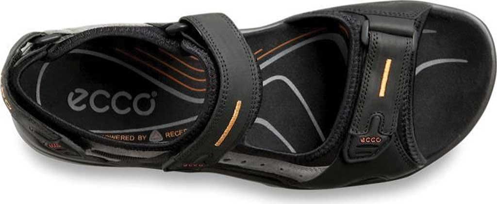 Men's ECCO Yucatan Sandal, Black/Mole/Black Oiled Nubuck/Textile, large, image 4