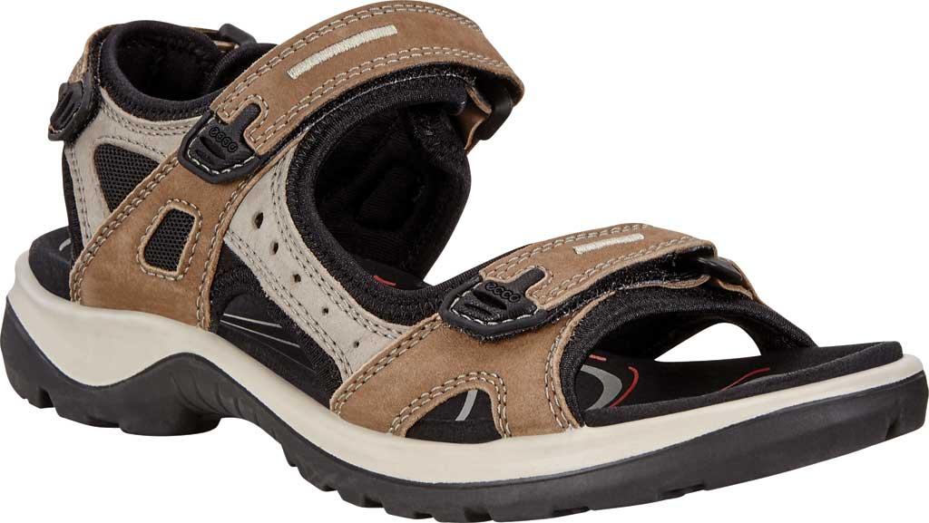 Women's ECCO Yucatan Sandal, Birch Leather/Textile, large, image 1