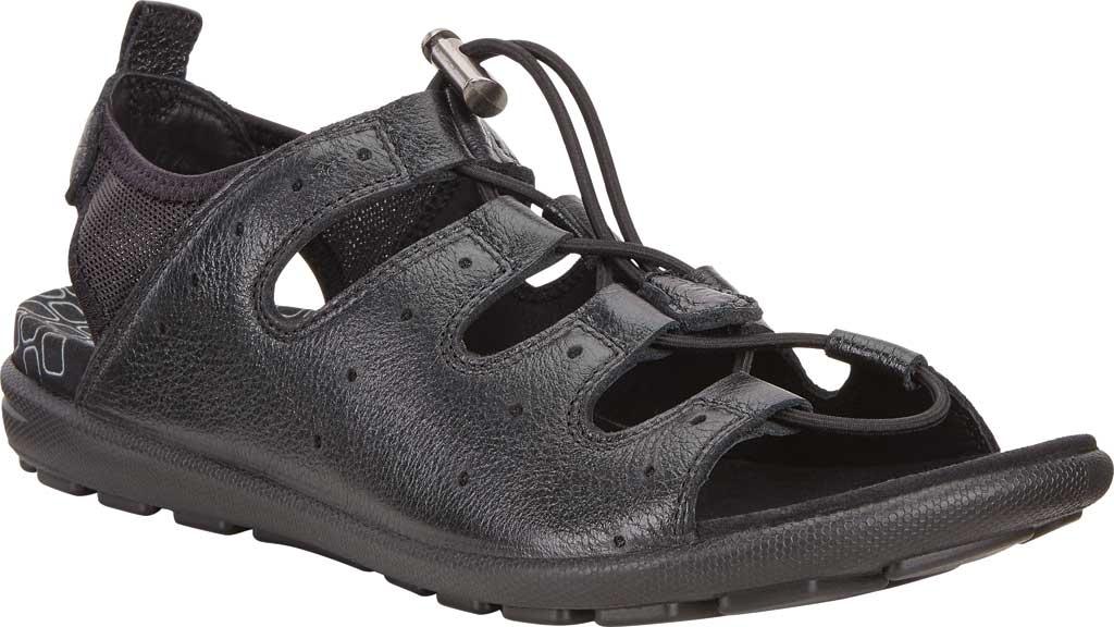 Women's ECCO Jab Toggle Sandal, Black Leather, large, image 1