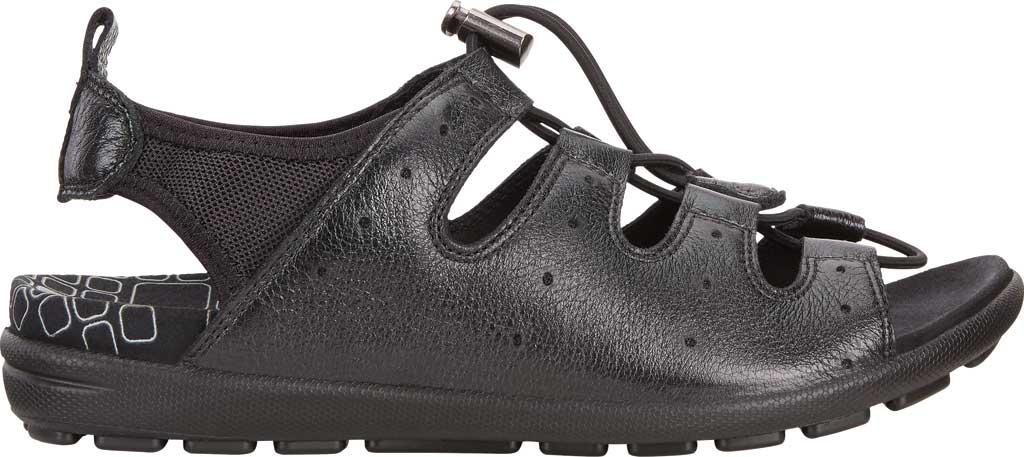 Women's ECCO Jab Toggle Sandal, Black Leather, large, image 2
