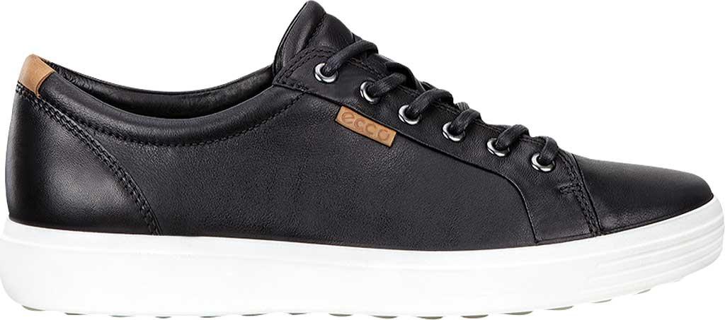 Women's ECCO Soft 7 Sneaker, Black Leather/Nubuck, large, image 2