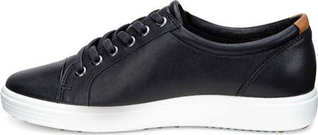 Women's ECCO Soft 7 Sneaker, Black Leather/Nubuck, large, image 3
