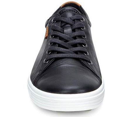 Women's ECCO Soft 7 Sneaker, Black Leather/Nubuck, large, image 4